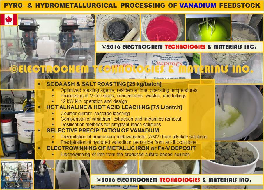 Conventional processing of vanadium rich feedstock