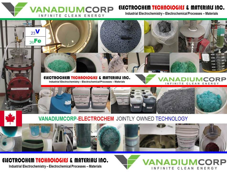 ELECTROCHEM TECHNOLOGIES & MATERIALS INC. - VanadiumCorp-Electrochem Processing Technology (VEPT)